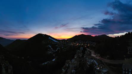 Ultimo tramonto del 2018 a Selvino