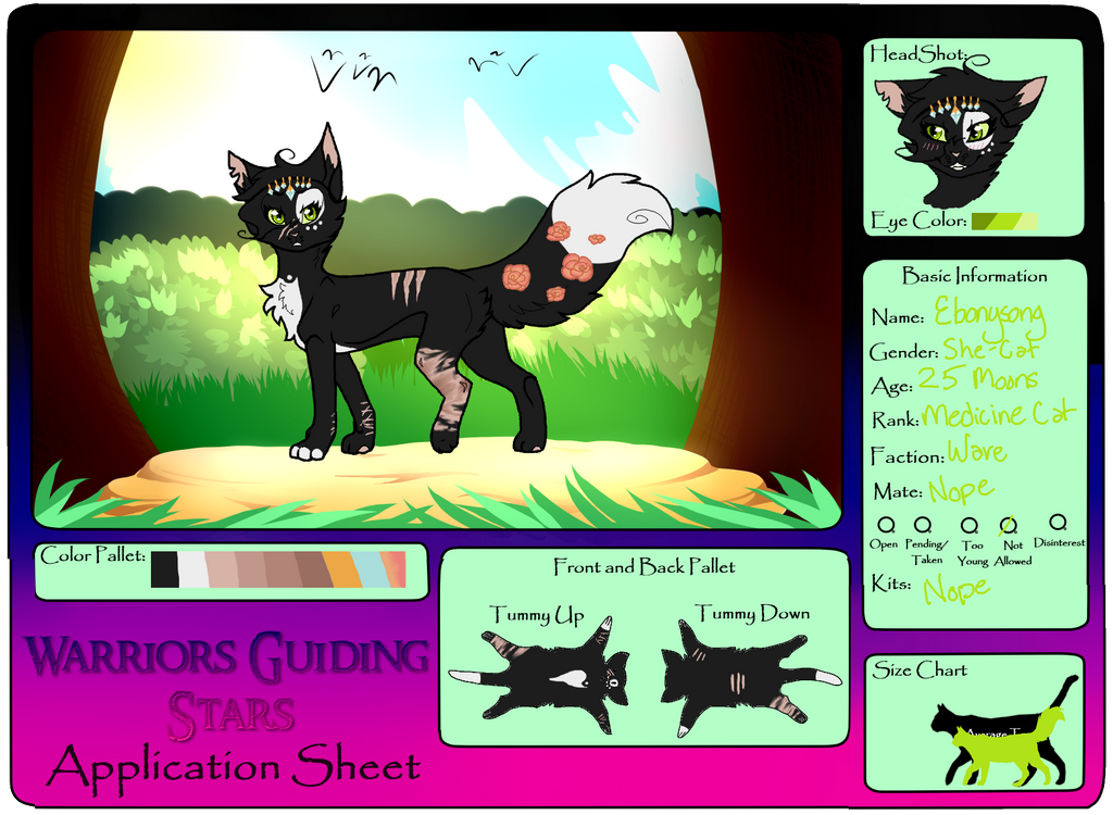 .:: Ebonysong || WGS Application Sheet ::. by KrazyChick369