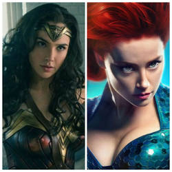 CAT: Wonder Woman and Mera by BlackPantherDevianta