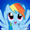Rainbow Dash free avatar by InukoPuppy