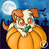 [Halloween Avatar Trade] Pumpkin the puppy by InukoPuppy