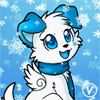 [Winter Avatar Commission] Rose the puppy by InukoPuppy