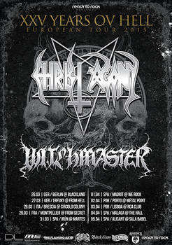 Witchmaster/Christ Agony Tour poster