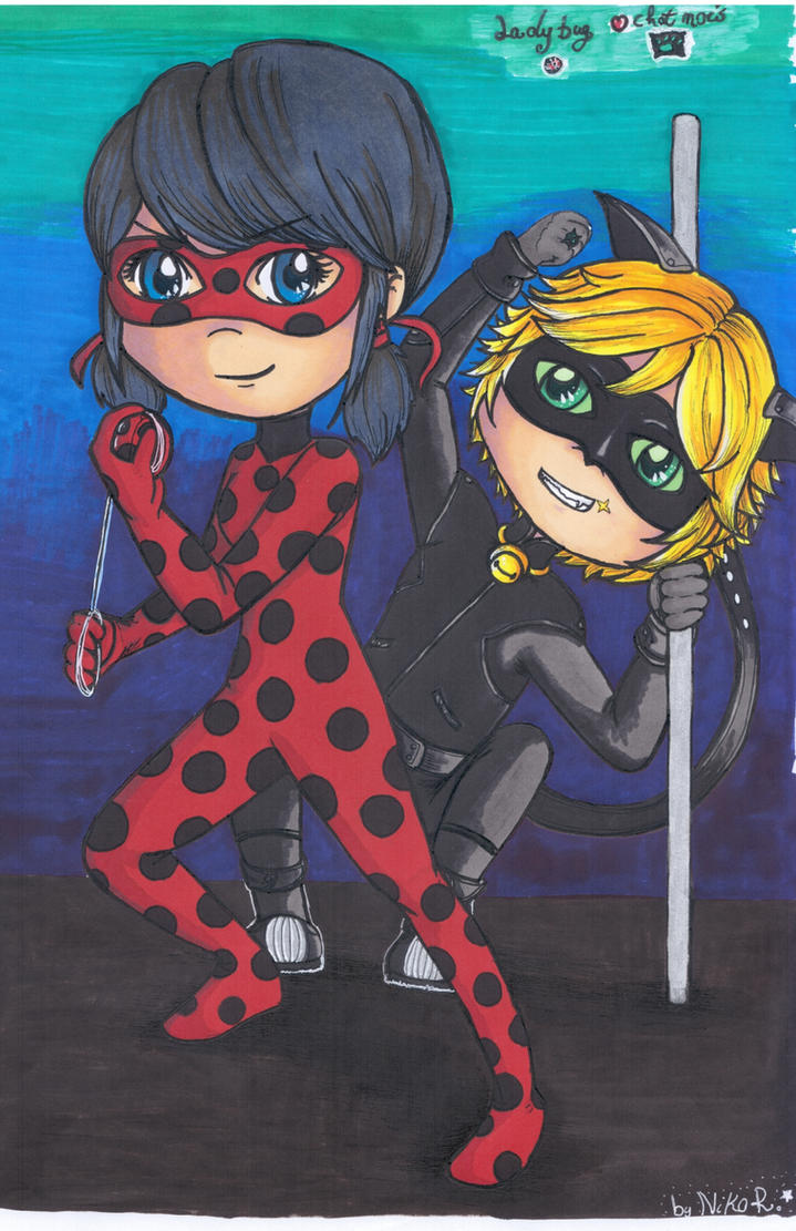 Miraculous Ladbug and Chat nois by Shingery