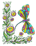 Coloring Page Dragonbutterfly By Anbeads-02 by Creaciones-Jean