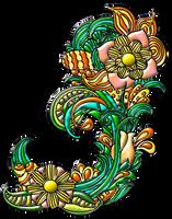 Ornamento-floral-19 by Creaciones-Jean