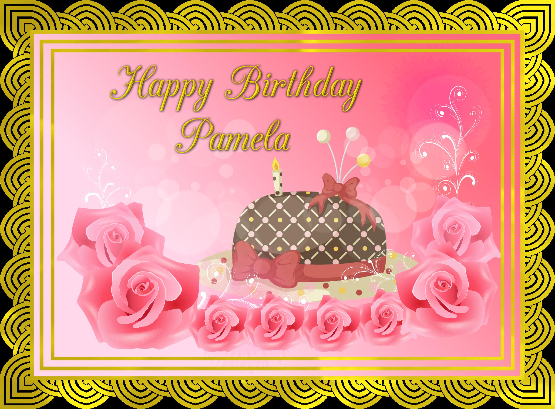 Happy Birthday Pam Cake