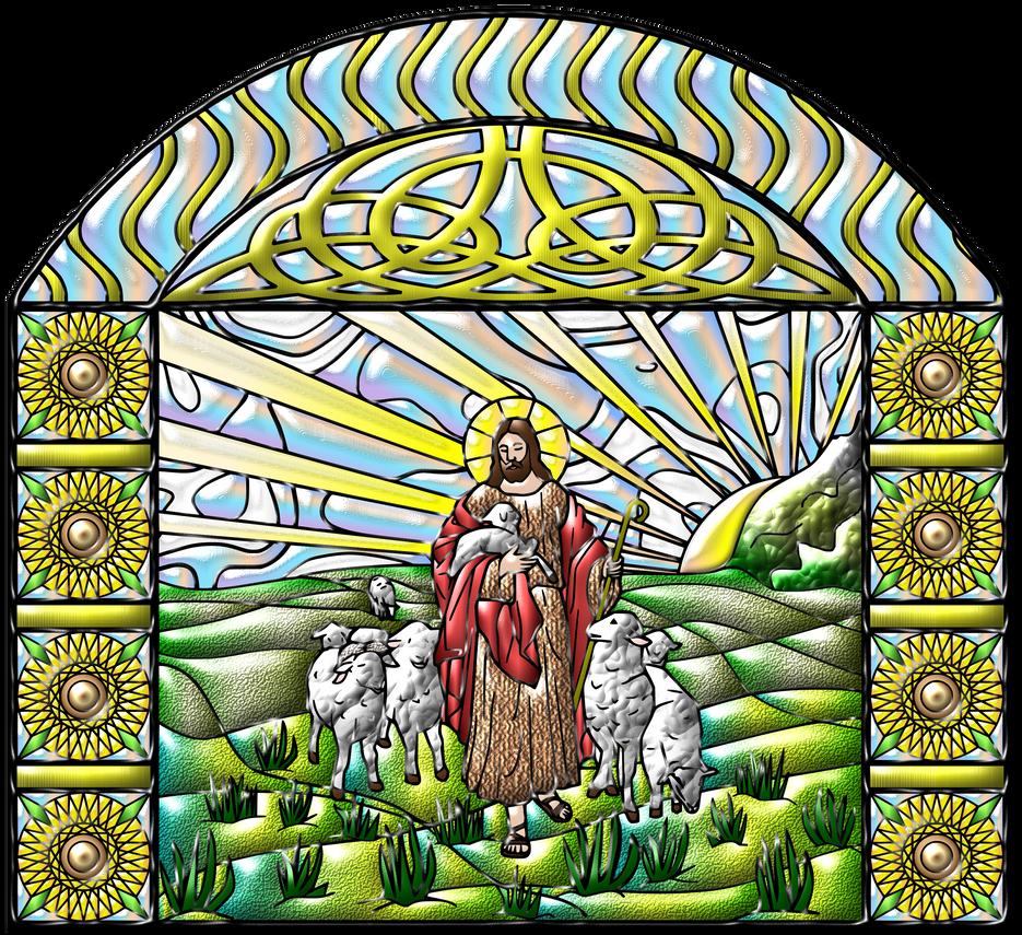 Vitral-Jesus-es-mi-Pastor-02 by Creaciones-Jean