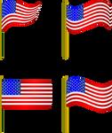 Bandera-Estados-Unidos-de-Norteamerica-03.E by Creaciones-Jean