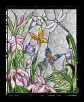 Vitral-libelula-y-mariposas-por-colores-degradados