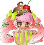 Cupcake Girl By Yampuff.2
