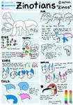 Zinotians Species Reference: Closed Species