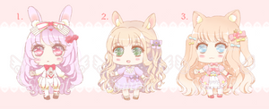 Adopts: ~Candy Color Sweeties~ 01 (Open) by CashewOwl