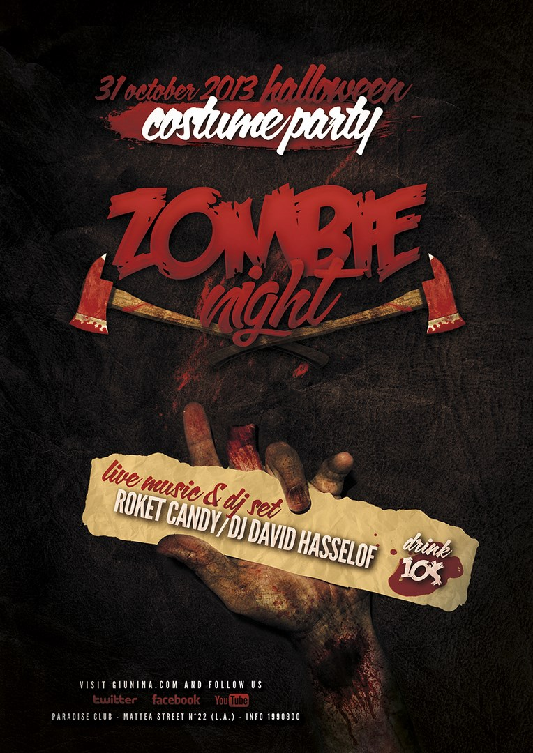 Halloween Zombie Night Flyer/Poster by Giunina on DeviantArt
