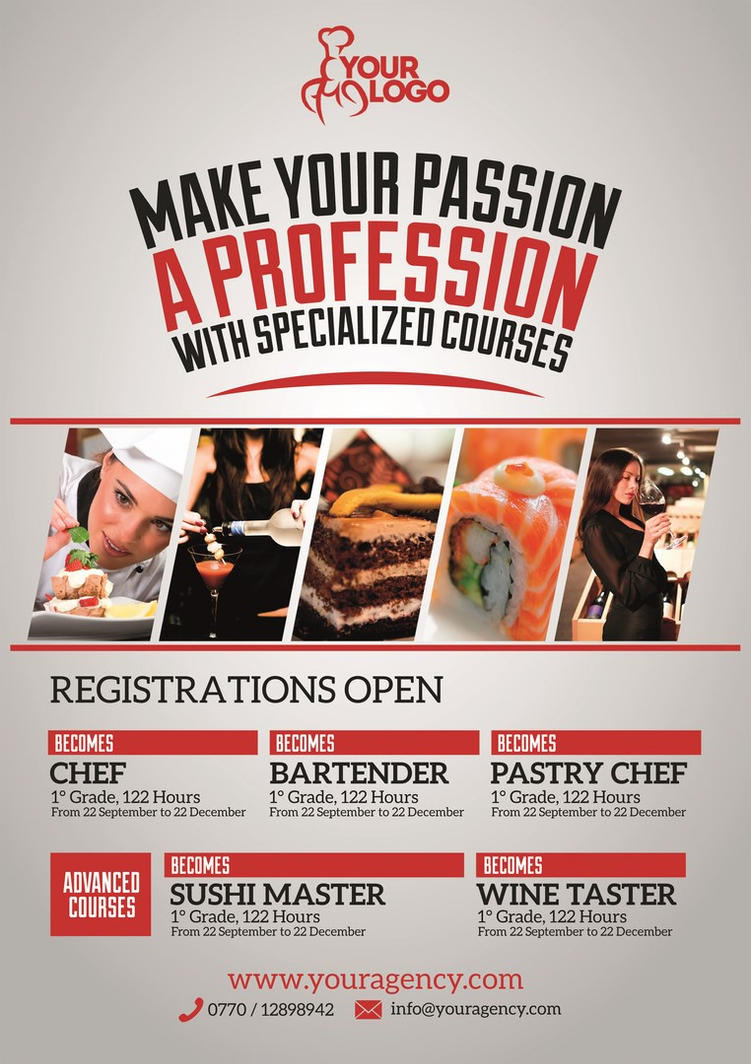 Professional Courses Flyer/Poster by Giunina