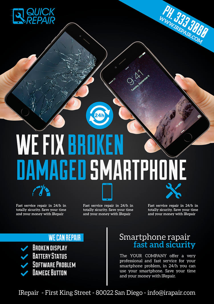 Smartphone Repair Flyer/Poster by Giunina