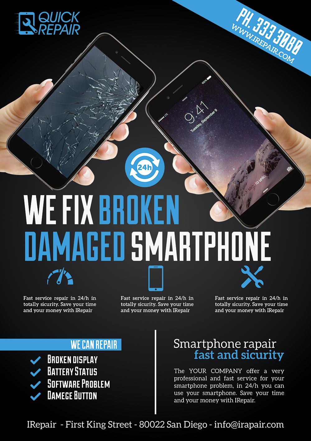 Smartphone Repair Flyer/Poster by Giunina on DeviantArt