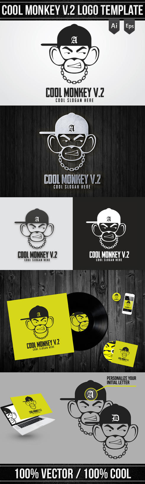 Cool Monkey V. 2 by Giunina