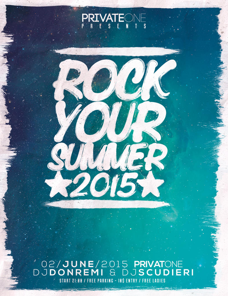 Rock Your Summer Flyer/Poster by Giunina