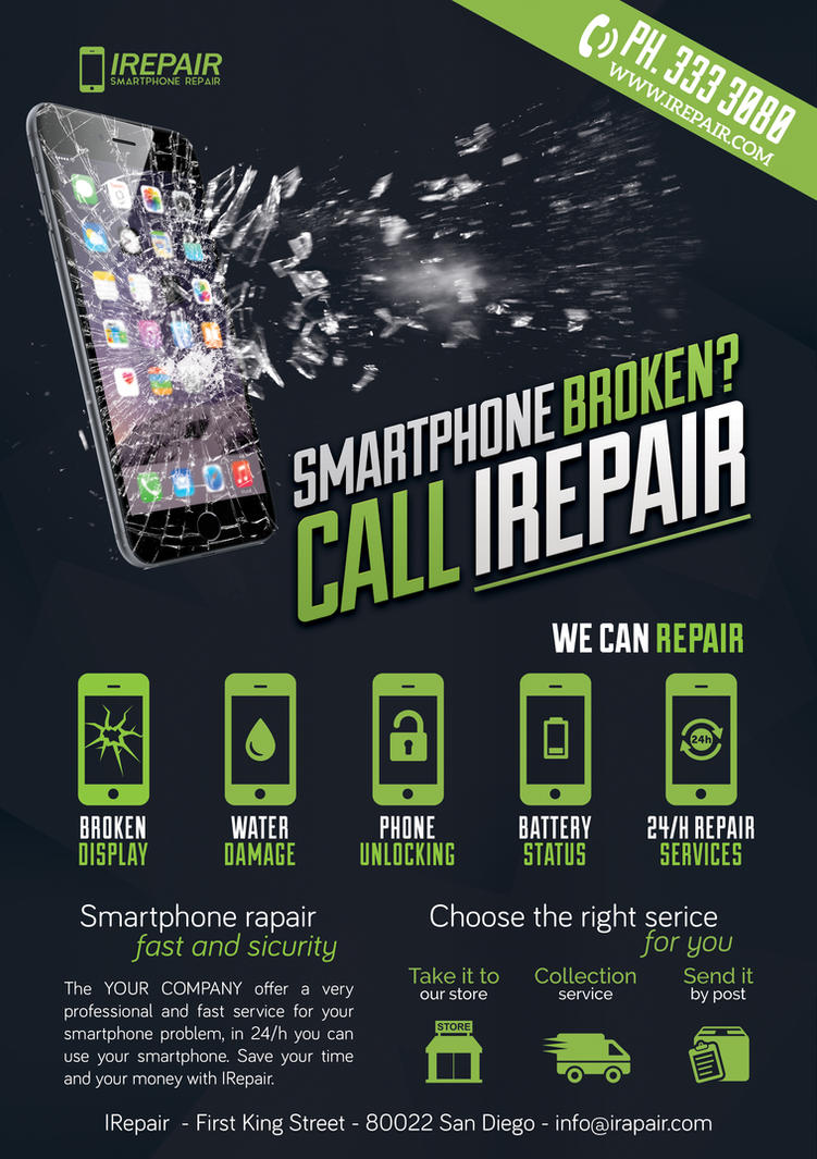 Smartphone Repair 3 Flyer/Poster by Giunina