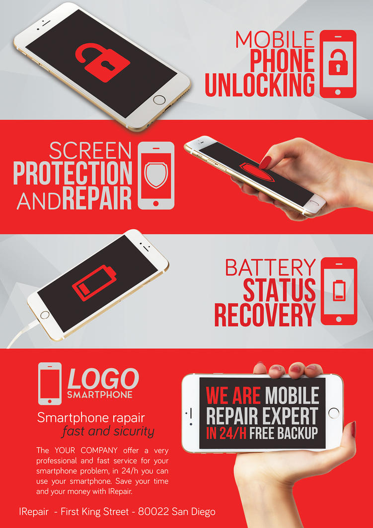 Smartphone Repair 4 Flyer/Poster by Giunina