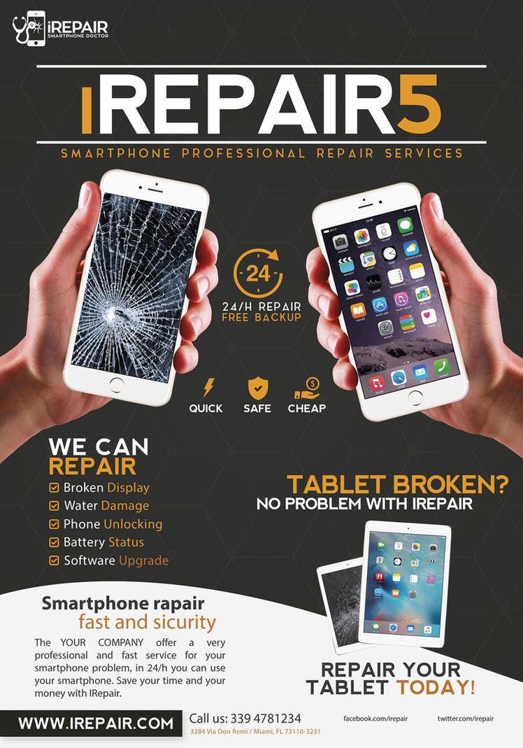 Smartphone Repair 5 Flyer/Poster by Giunina