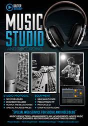Music Studio 4 Flyer/Poster by Giunina