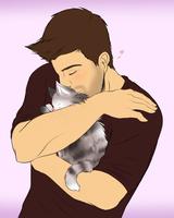 Kitty snuggle!! by Joki-Art
