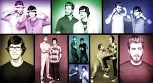 Rhett and Link collage/wallpaper by Joki-Art