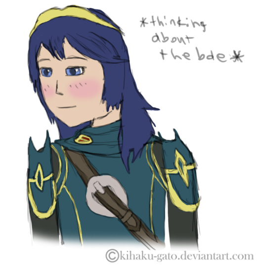 Lucina thinking about the bae by Kihaku-Gato