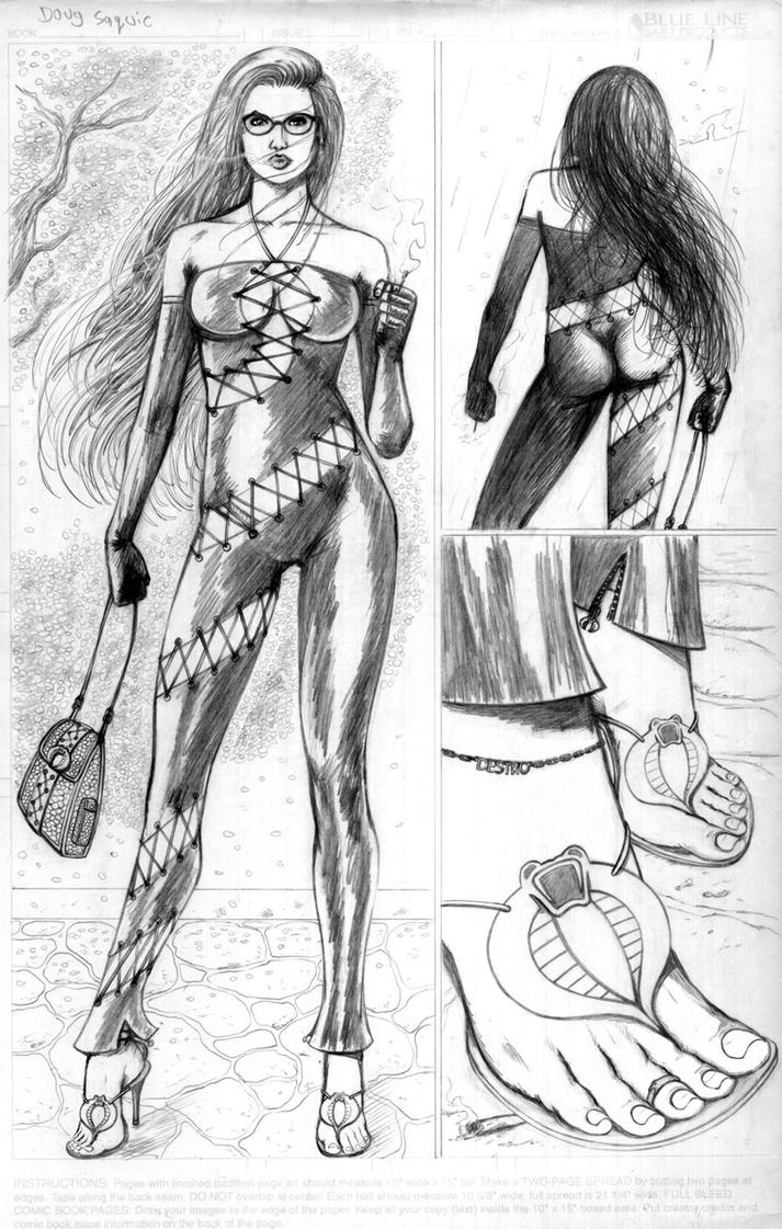 Baroness Suit and Cobra Sandal Design by DougSQ