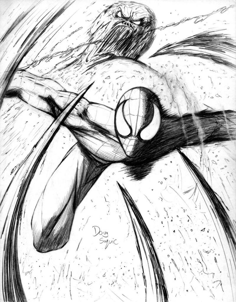 Spider-Man  vs Sandman by DougSQ