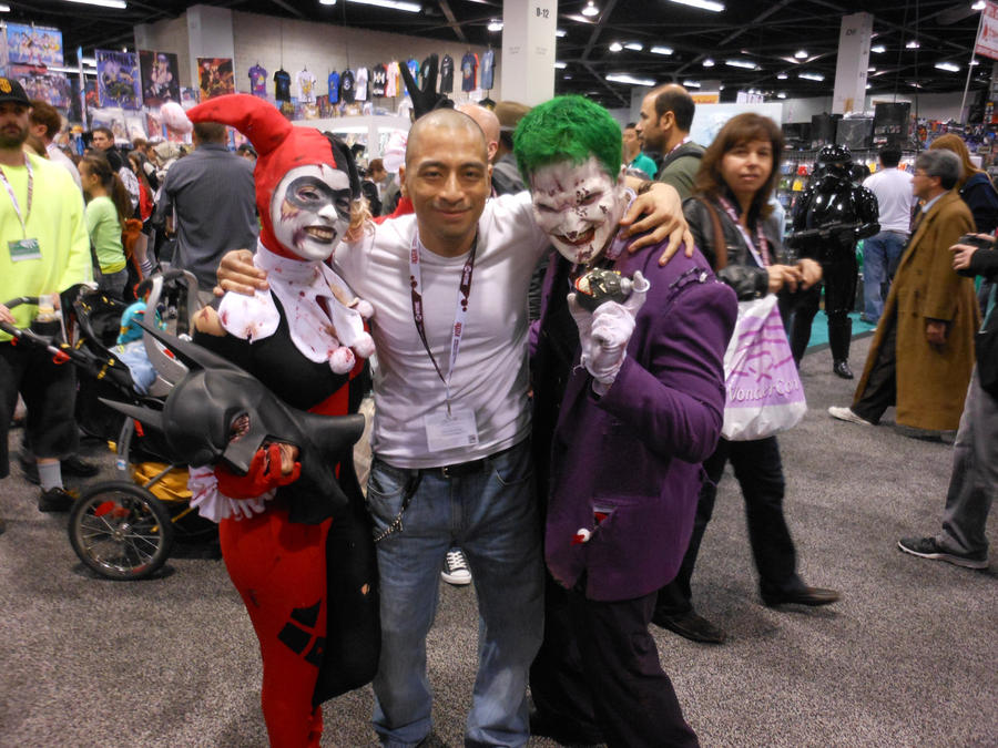 Wondercon 2012 joker and harley by DougSQ