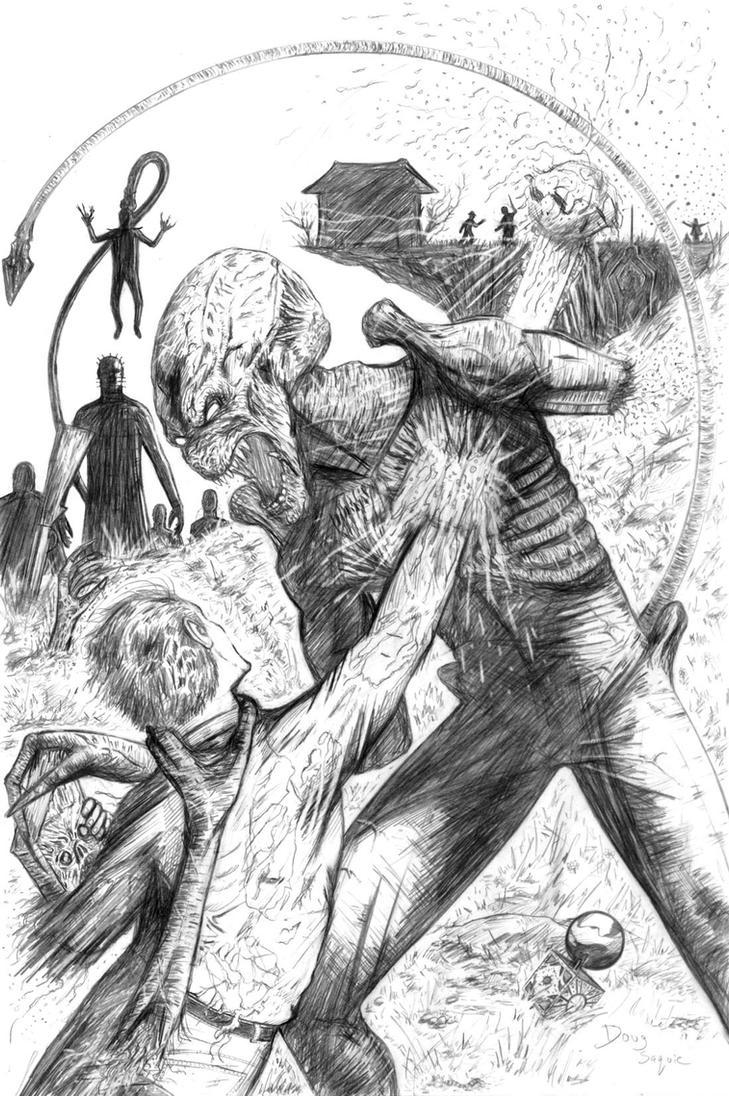 predator vs jason coloring pages - photo#29