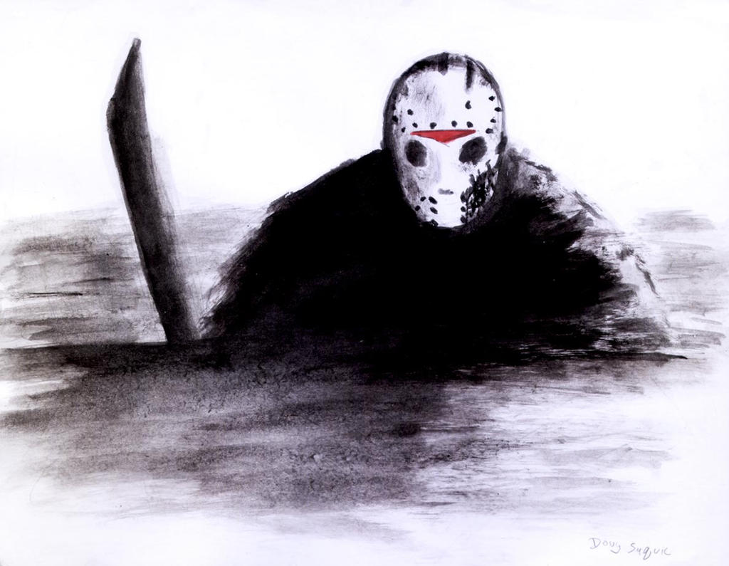 Friday the 13th part 7 paint and brush Jason by DougSQ on ... Jason Friday The 13th Drawings