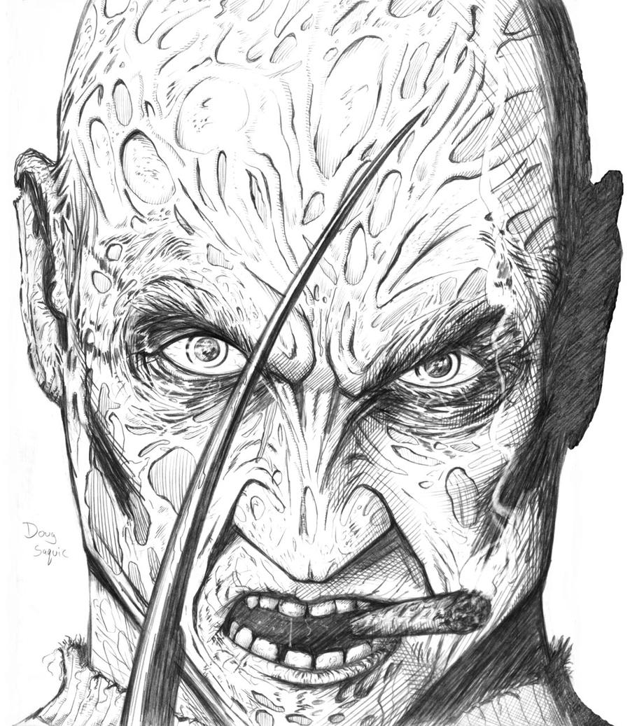 Freddy Krueger smoking. by DougSQ on DeviantArt