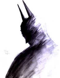 Batman paint and brush by DougSQ