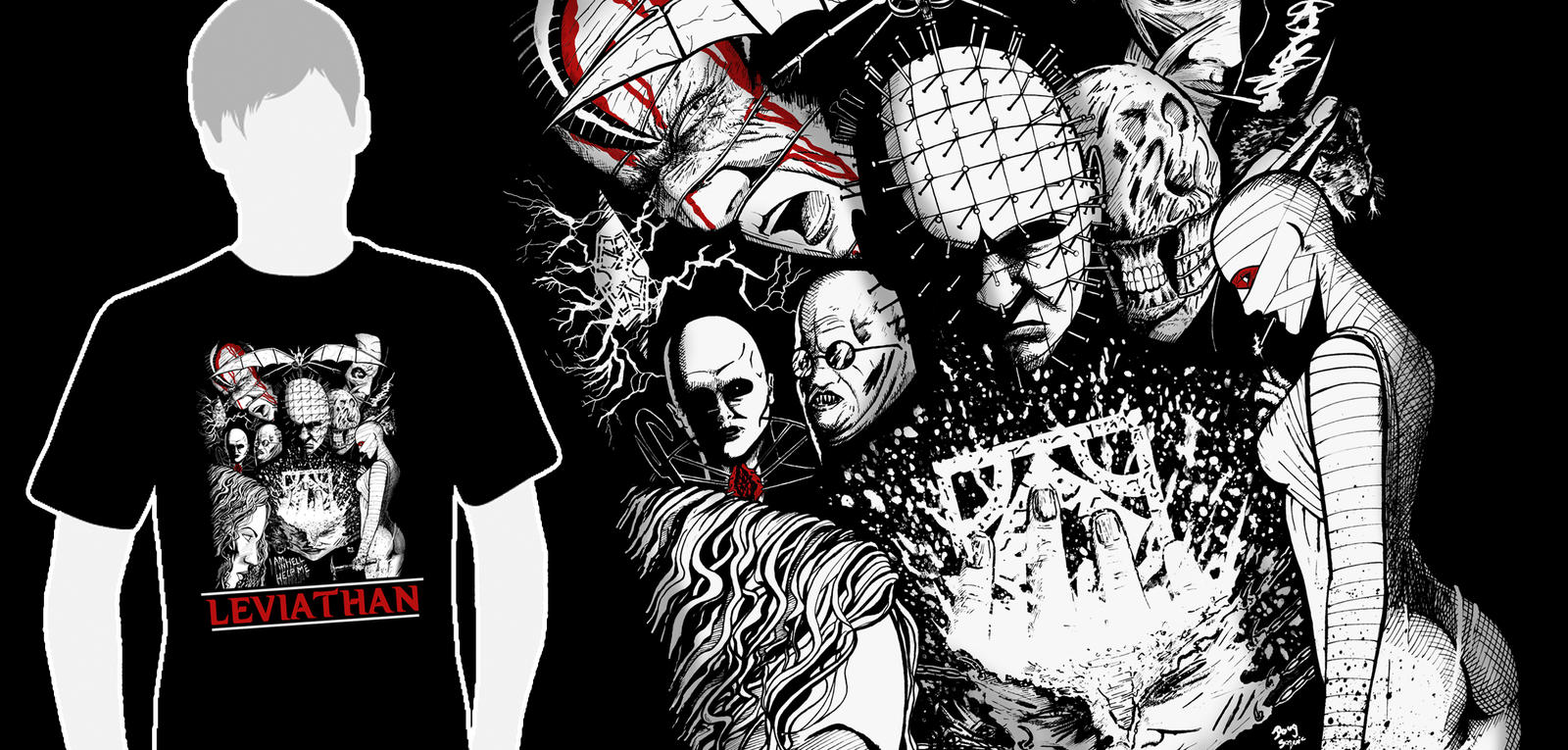 Limited Edition Hellraiser Leviathan t-shirt by DougSQ