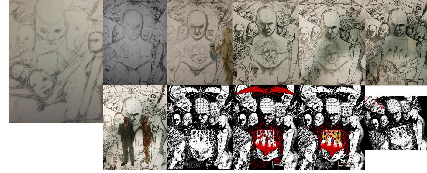 Step By Step Hellraiser Shirt Design by DougSQ