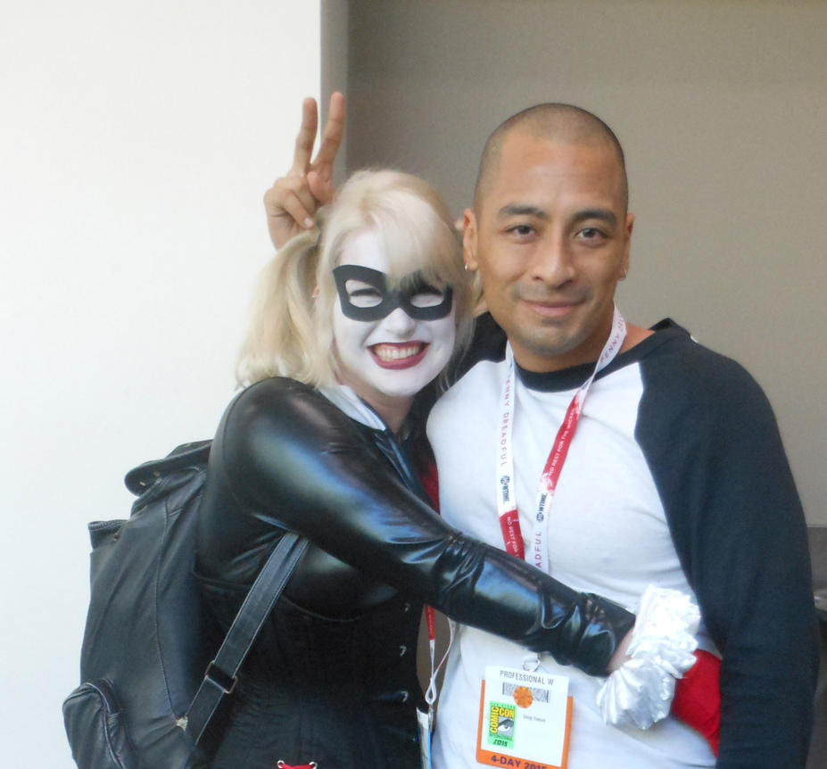 San Diego Comic Con 2015 Harley Quinn and myself by DougSQ