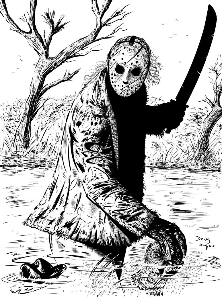 Freddy vs Jason Inks by DougSQ