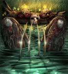Friday the 13th Jason and Freddy  lake bath colors