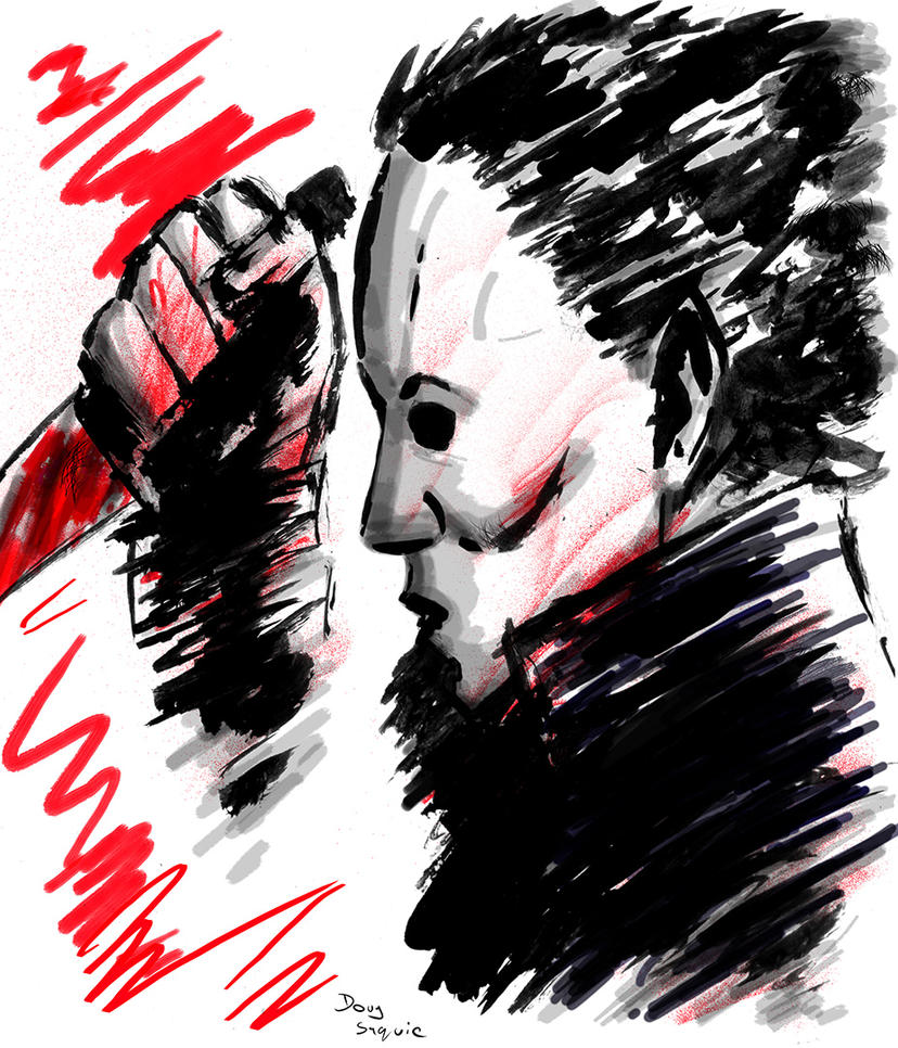 Michael Myers Halloween paint and brush holidays by DougSQ