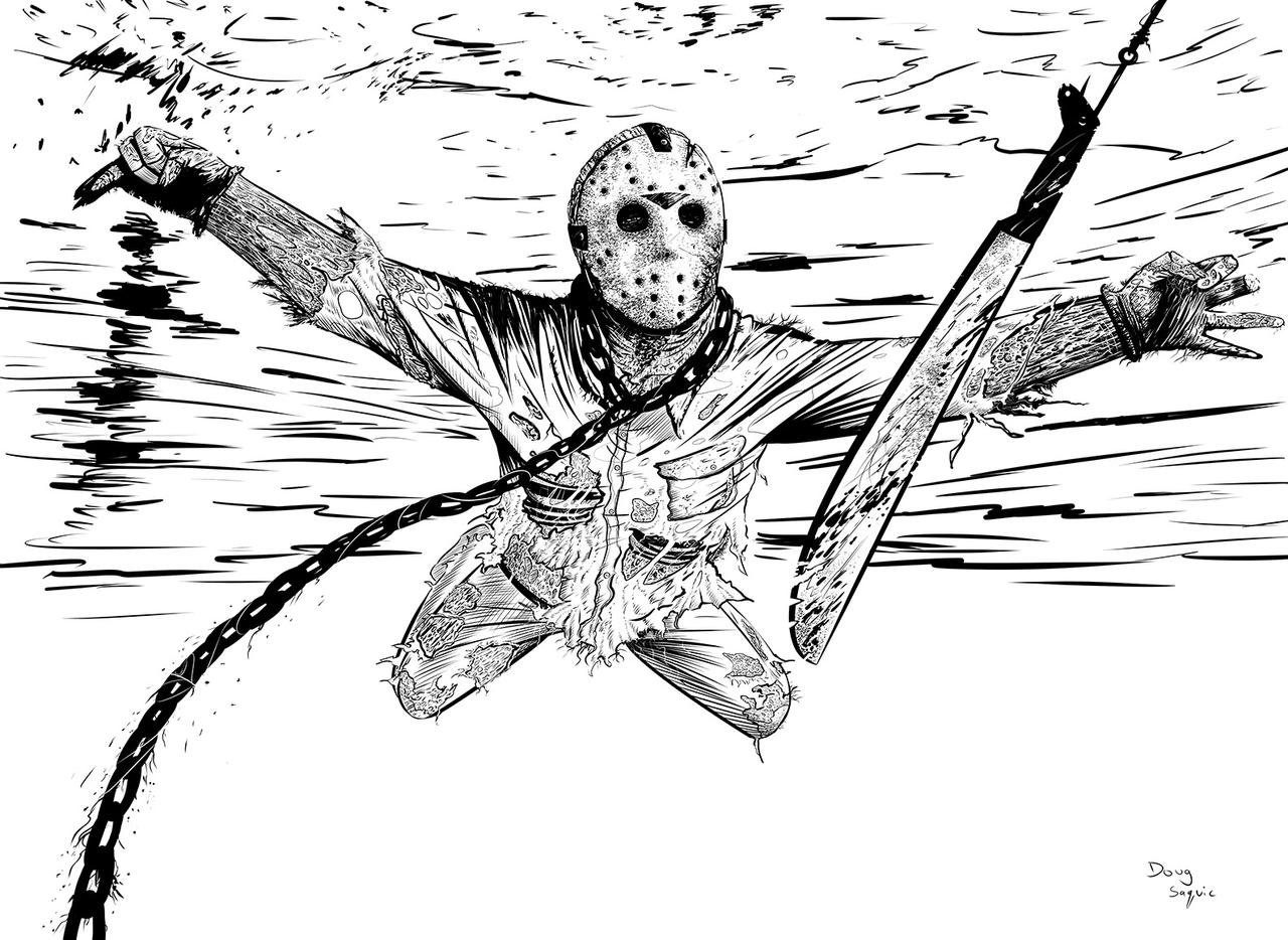 Jason Friday the 13th,Nirvana Nevermind by DougSQ on ... Jason Friday The 13th Drawings