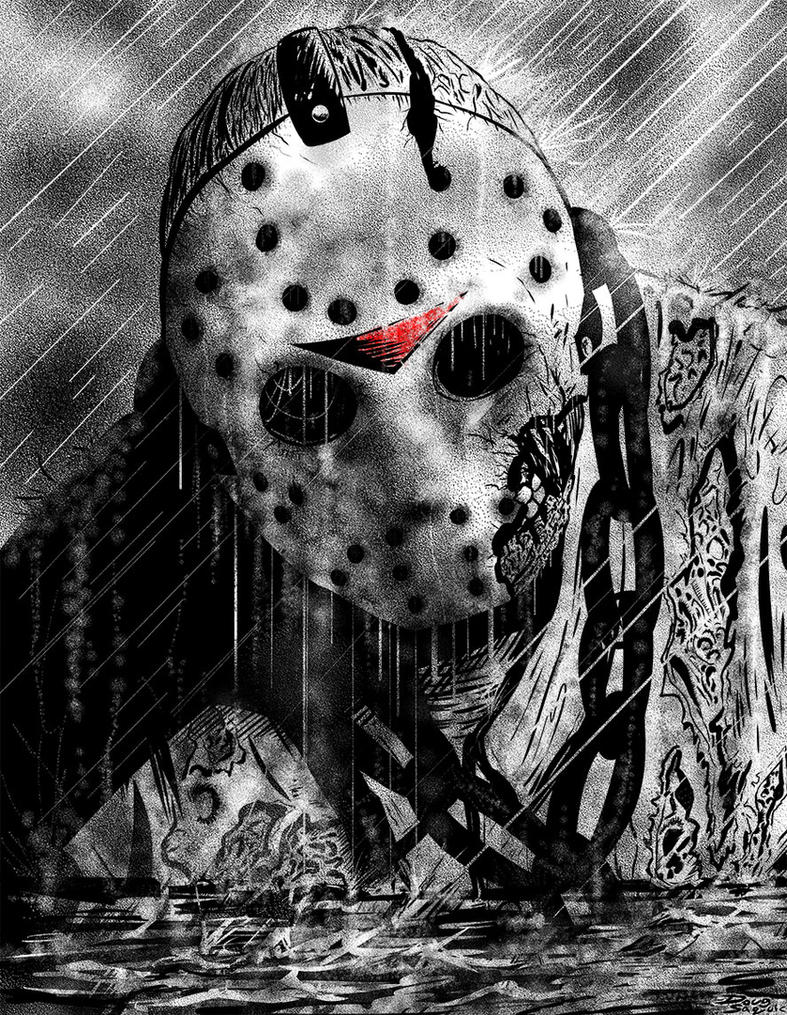 Friday the 13th Jason Emerges by DougSQ on DeviantArt Jason Friday The 13th Drawings