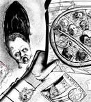Freddy Krueger eats his buddy's inks