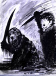 Jason Voorhees vs Michael Myers paint and brush