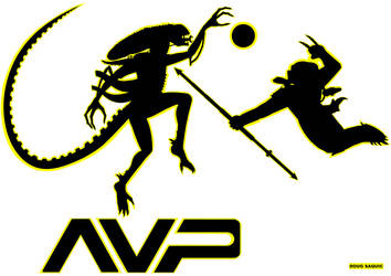 Alien vs Predator Volleyball by DougSQ