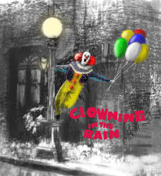 Pennywise Clowning In The Rain by DougSQ