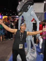 San Diego Comic Con 2019 Alien Statue and Me